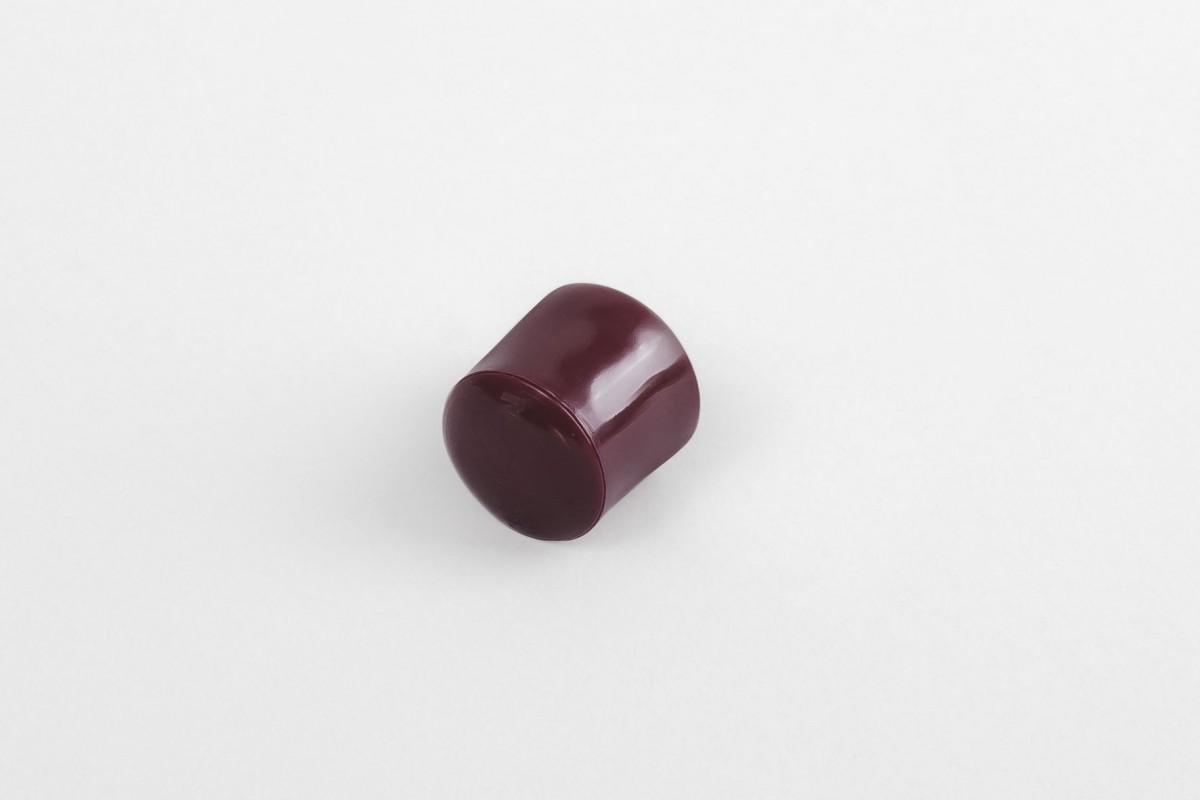 Стопор 13 мм с заглушкой, бордовый