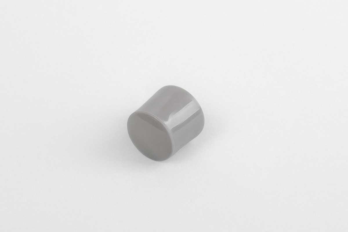 13 mm stopper with hole plug, dark grey