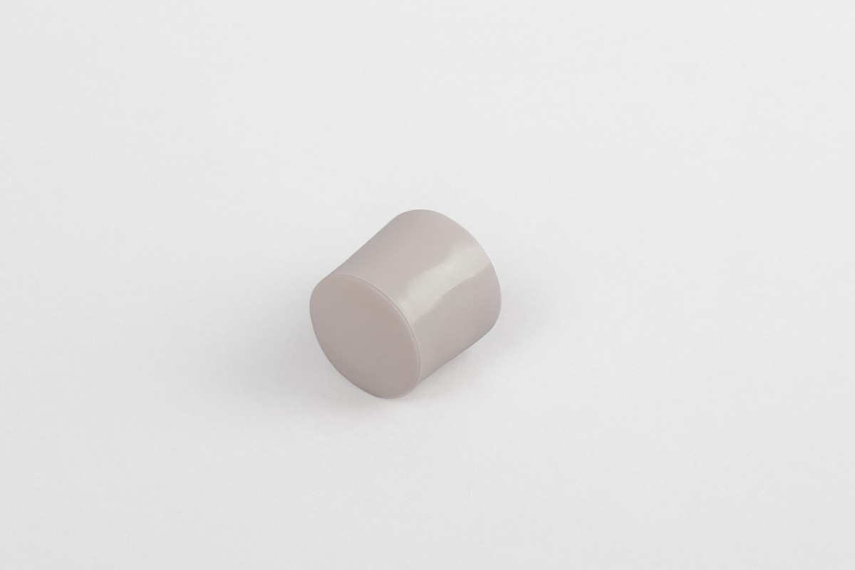 13 mm stopper with hole plug, dark beige