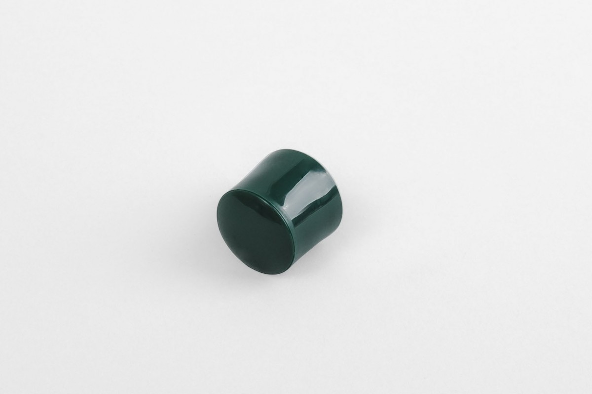 Kołek oporowy 13 mm z zaślepką, zielony
