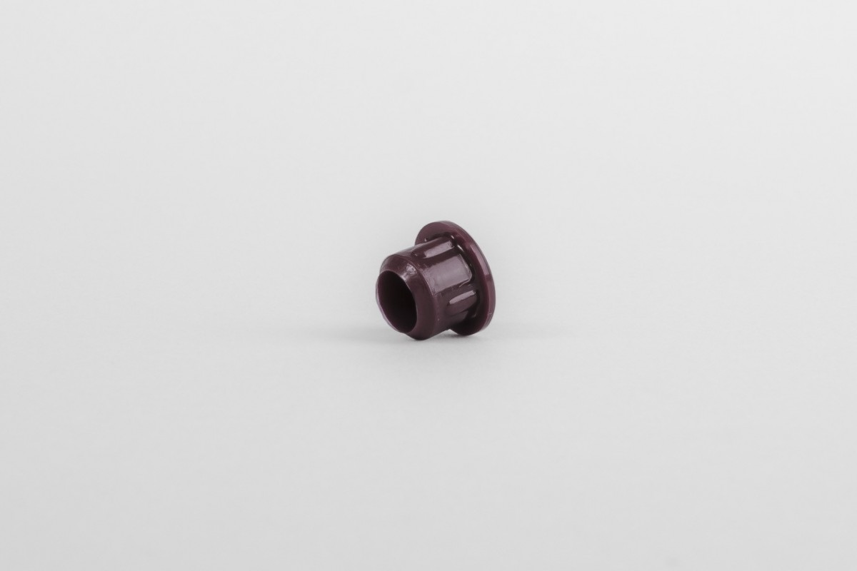 Hole plug for runner Ø10, maroon