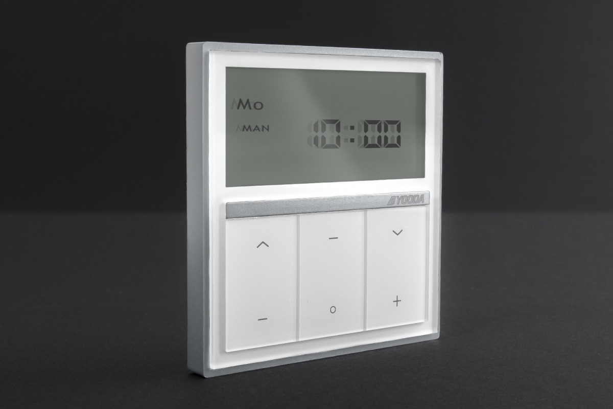 Single-channel MAGNETIC DeLuxe wall mounted remote control with timer