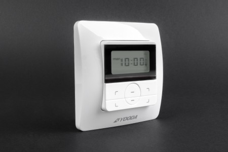 Single-channel AURA wall mounted remote control with timer
