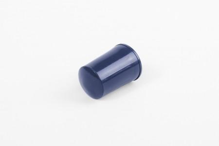 KU-Anschlagstopfen 28 mm mit Abdeckknopf, marineblau