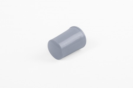 28 mm stopper with hole plug, steel blue