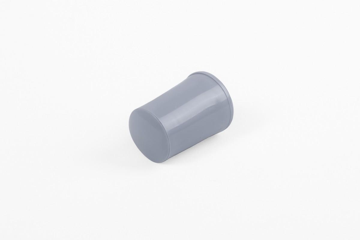Kołek oporowy 28 mm z zaślepką, stalowy niebieski
