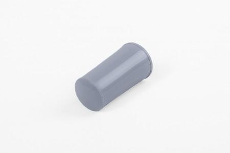 KU-Anschlagstopfen 40 mm mit Abdeckknopf, Stahlblau