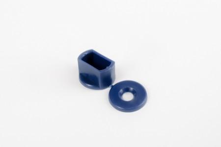 KU-Anschlagstopfen 15 mm für Endstäbe, marineblau
