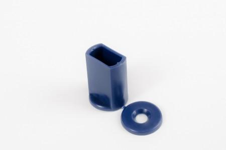 Стопор 28 мм для профиля концевого, темно-синий