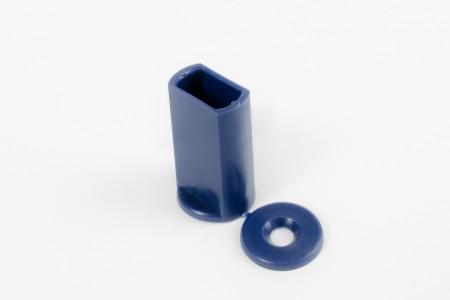 KU-Anschlagstopfen 40 mm für Endstäbe, marineblau