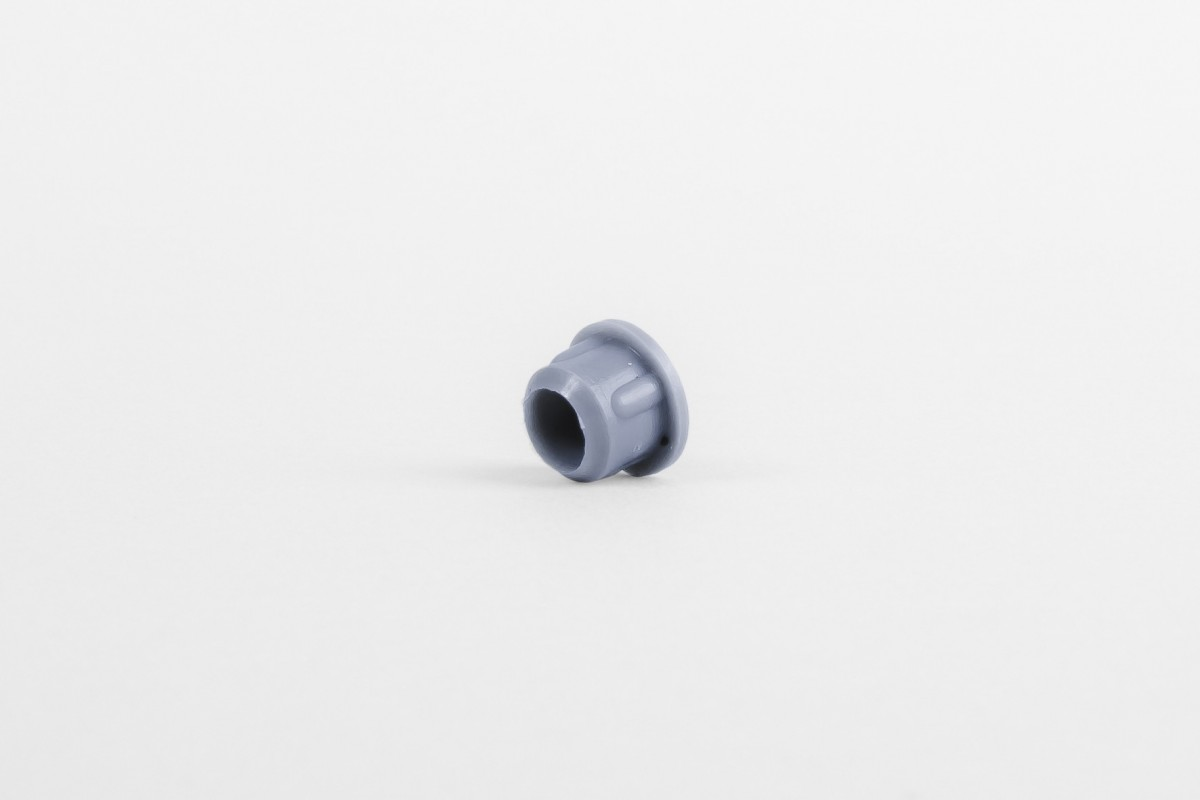 Ø10 hole plug without cut, steel blue