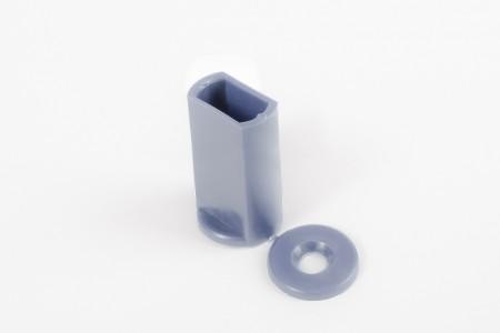 KU-Anschlagstopfen 40 mm für Endstäbe, Stahlblau