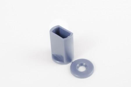 KU-Anschlagstopfen 28 mm für Endstäbe, Stahlblau