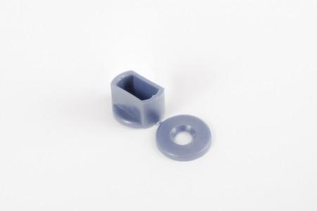 Kołek oporowy 15 mm do listwy dolnej, stalowy niebieski