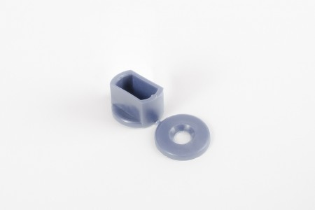 KU-Anschlagstopfen 15 mm für Endstäbe, Stahlblau