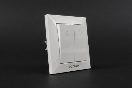 Unlatching button switch, flush mounted