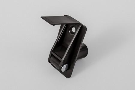 Prowadnica taśmy 14 mm rurkowa z otworem na śrubę i maskownicą, ciemny brąz