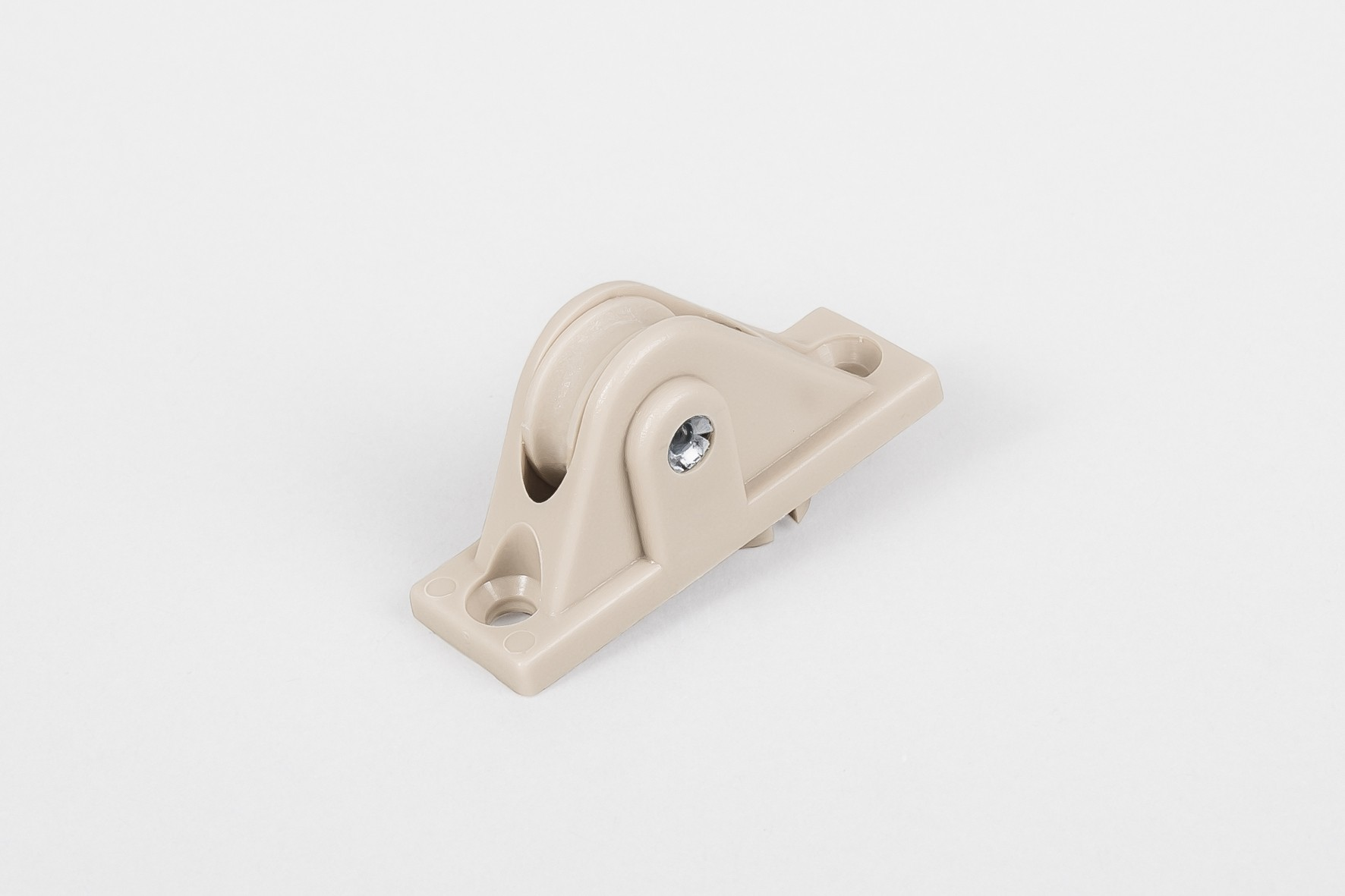 PVC guiding roller for rope without brush and spring, beige