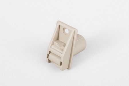 Round-shaped strap guiding roller (14 mm) with screw hole, beige