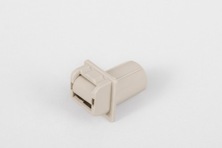 Round-shaped strap guiding roller (14 mm) without screw hole, beige