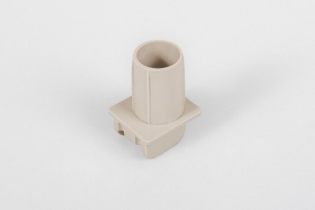 Направляющая ленты 14 мм трубочная без отверстия на болт, бежевая