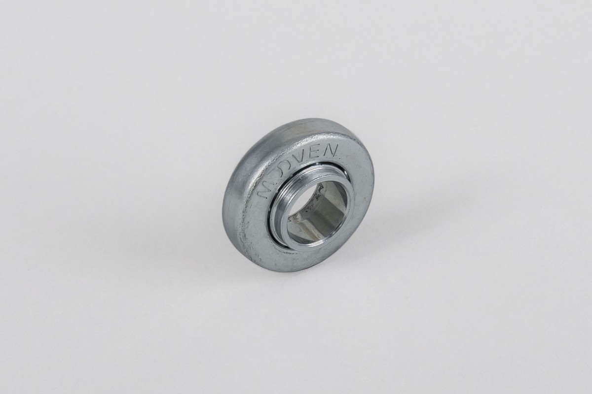 Ø28 / Ø12 bearing with steel rim and flange