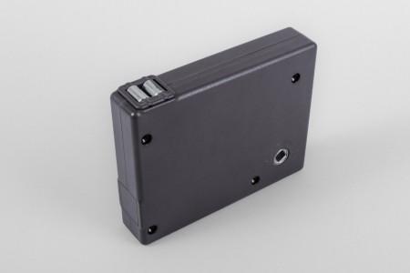 Strap crank box coiler max. load 30 kg, anthracite