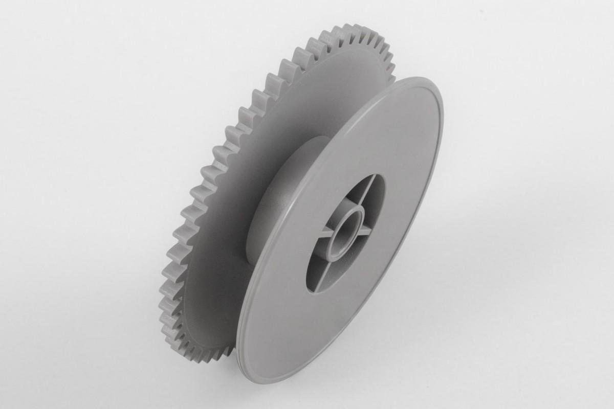 Gear wheel for crank coiler (max. load 30 kg), grey
