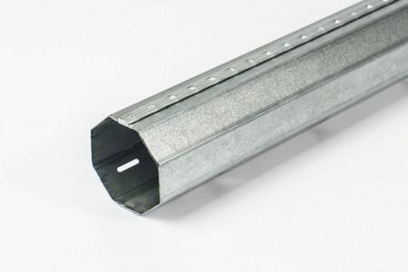 Steel octagonal Ø40 x 0.5 mm tube with an external seam (6 m)