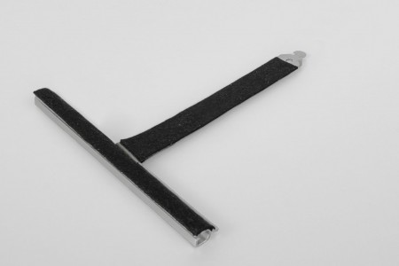 Felt coated retainer spring, ALU150 mortise, without cut, L130 mm, for 37-52 profiles