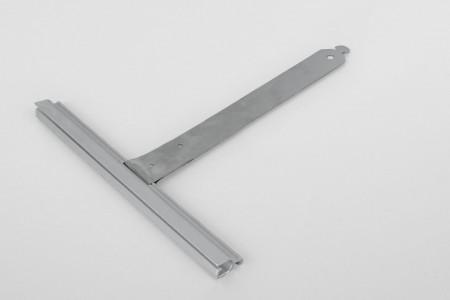 Wieszak nielak. wpust ALU150 bez rozcięcia L150 mm do profilu 37-52
