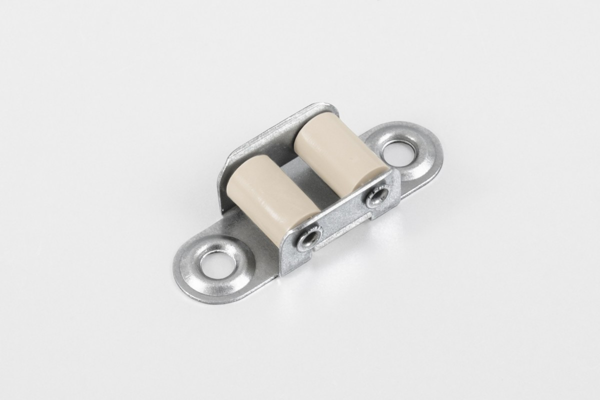 Strap guiding roller (14 mm) with two rollers, beige