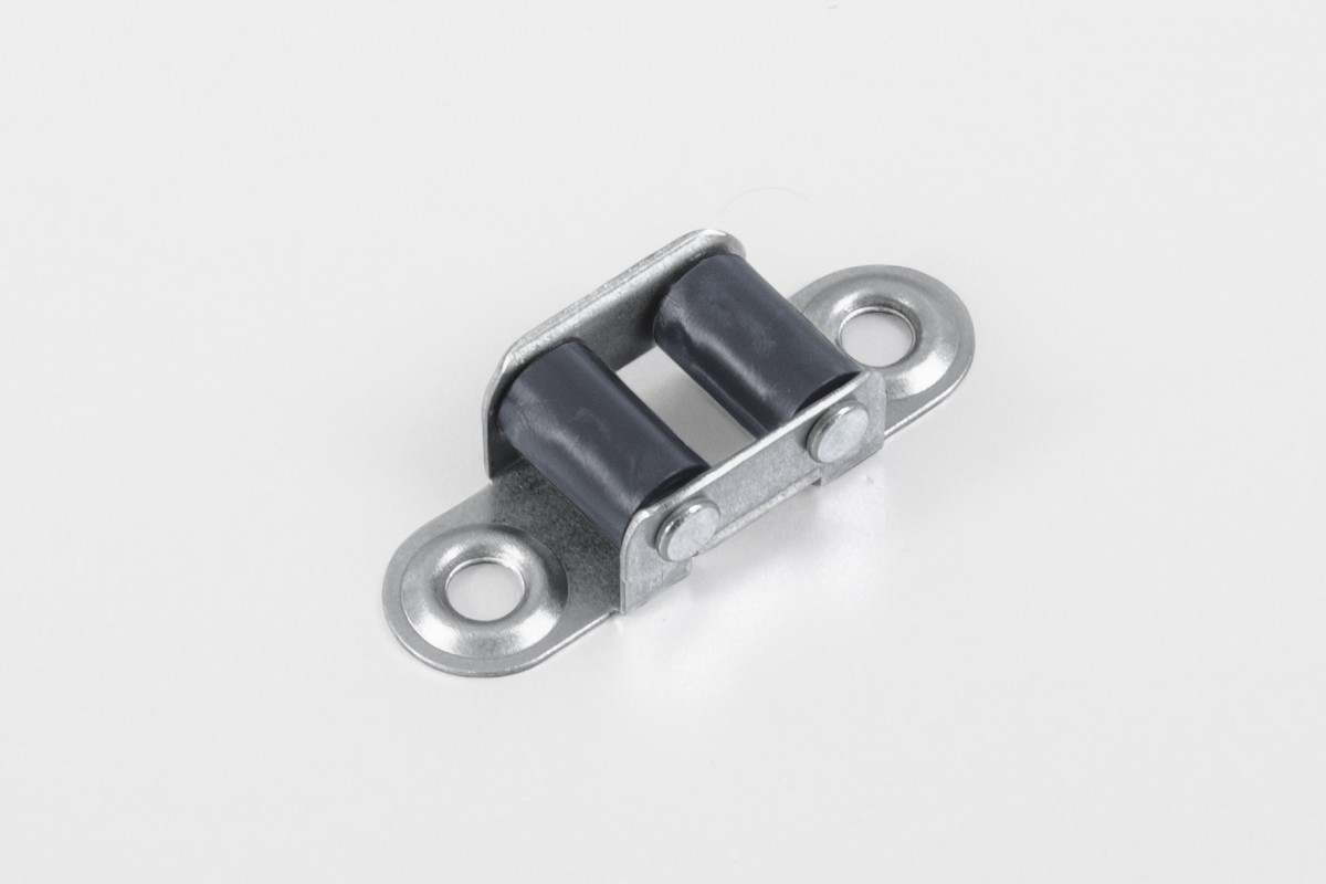 Strap guiding roller (14 mm) with two rollers, anthracite