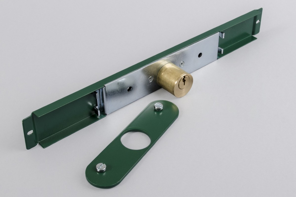 Big Ø25 mm cam lock with plate, green