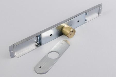 Big Ø25 mm cam lock with plate, galvanized