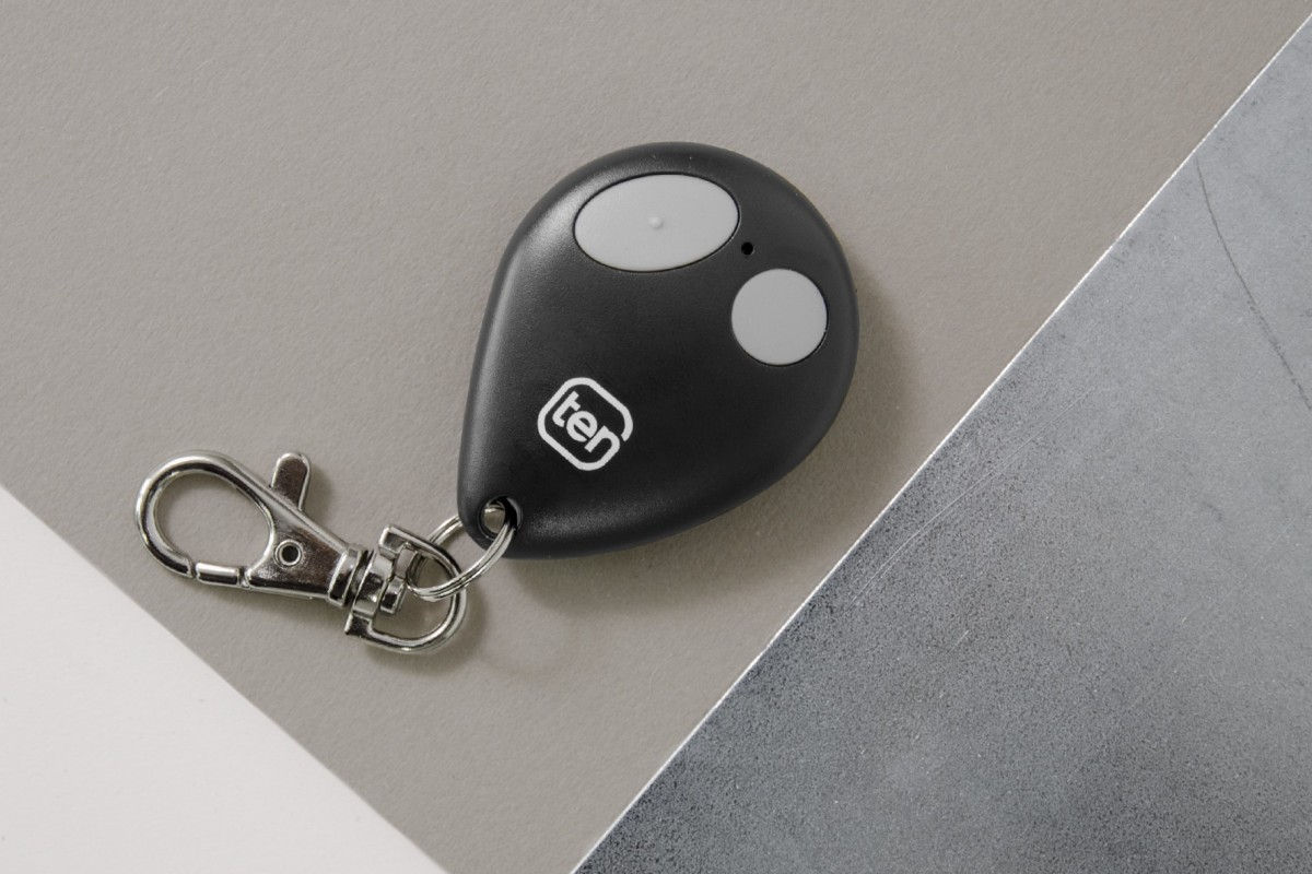 2-channel black key ring