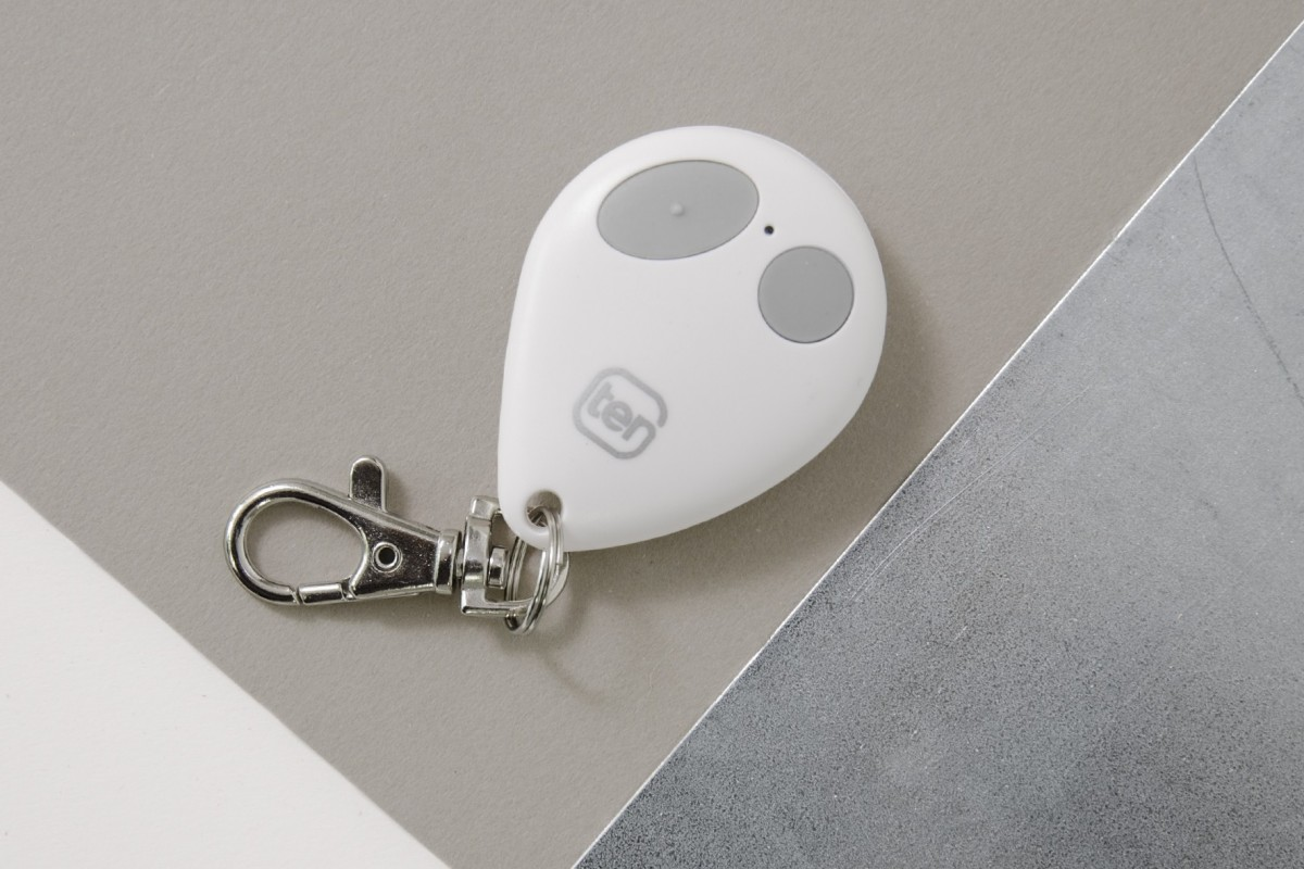 2-channel white key ring