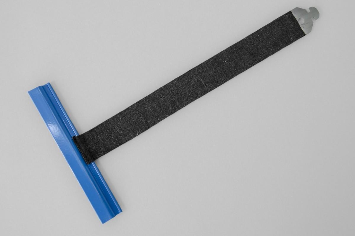 Wieszak hybrydowy wpust ALU100 bez rozcięcia L170 mm do profilu 37-52