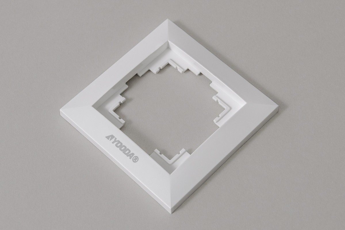 Ramka przełącznika klawiszowego, biała