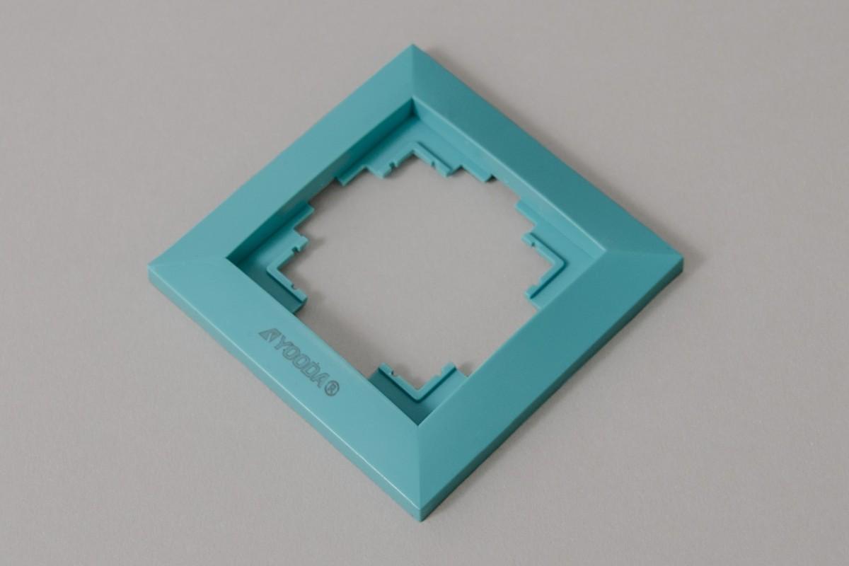 Ramka przełącznika klawiszowego, turkus