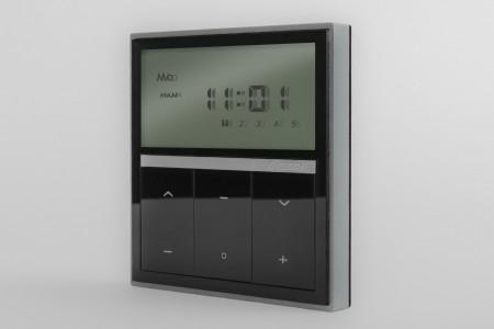 5-Kanal Wandsender MAGNETIC DELUXE mit eingebauter Uhr, schwarz