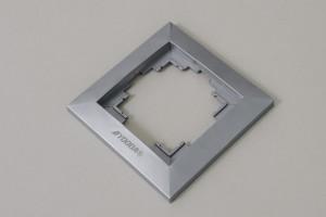 Ramka przełącznika klawiszowego, srebrny