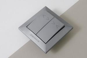 Przełącznik klawiszowy podtynkowy astabilny CORTINO, srebrny