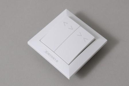 Przełącznik klawiszowy podtynkowy astabilny CORTINO, biały