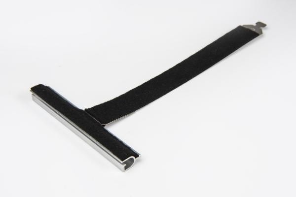 Felt coated springy hanger, ALU100 profile, without cut, L190 mm, for 55-77 profiles