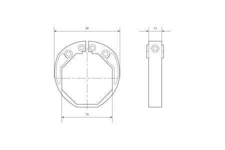 Ring for Ø70 security locks