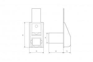 Направляющая ленты 14 мм ПВХ с отверстием на болт и крышкой, бежевая