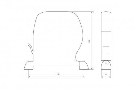 Кассета для шнура до 6 м (без шнура), бежевый