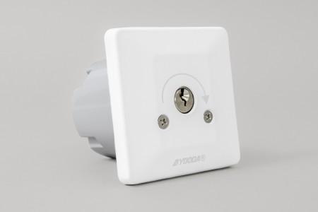 Przełącznik kluczykowy podtynkowy, impulsowy, biały