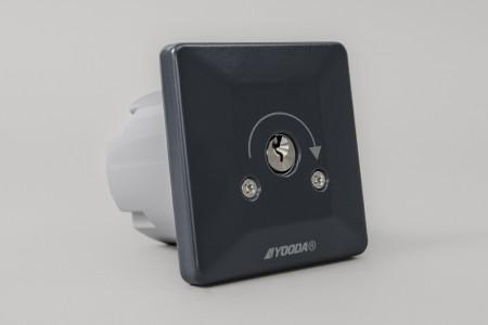Przełącznik kluczykowy podtynkowy, impulsowy, antracyt